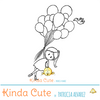 Girl and balloons Digital Stamp