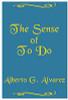 The Sense of To Do by Alberto Alvarez