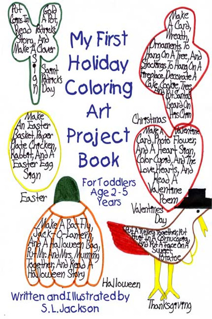 My First Holiday Coloring Art Project Book