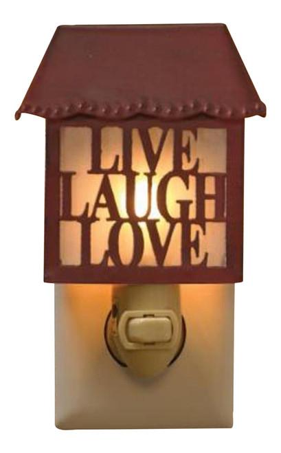 New Hope Live Laugh Love Metal Night Light Park Designs