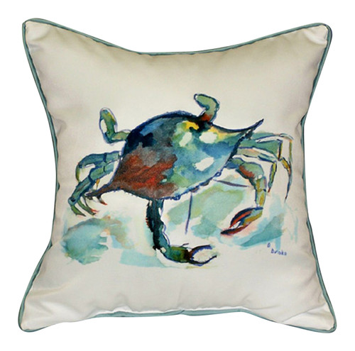 Chesapeake Bay Blue Crab Indoor Outdoor Throw Pillow 12 Inch Betsy Drake