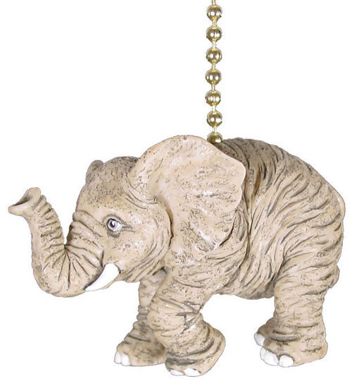 African Elephant Tusks Nursery Porch Fan Light Pull