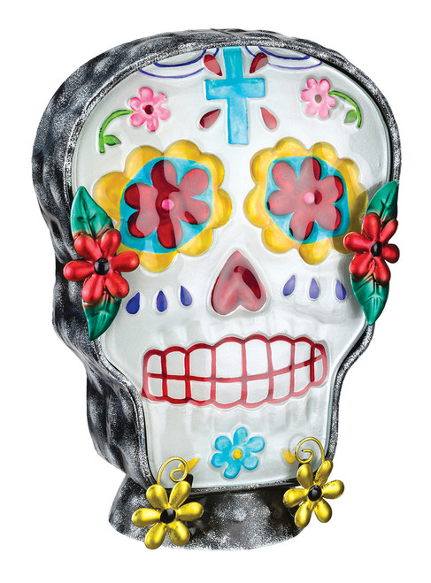 Day of Dead Man Male Sugar Skull Halloween Electric Night Lamp Tabletop