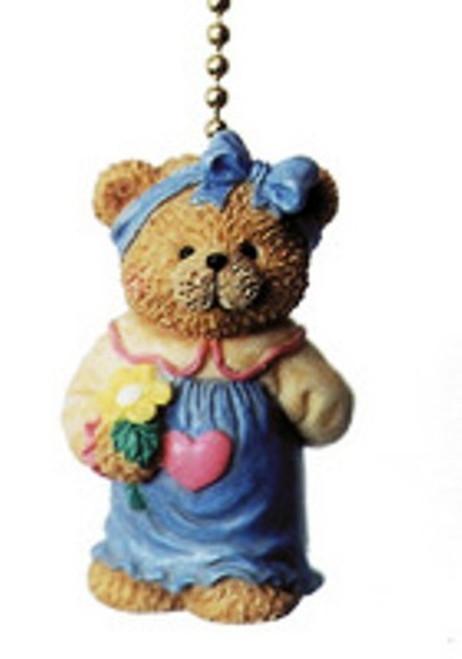 Baby Girl Teddy Bear Nursery Ceiling Fan Pull