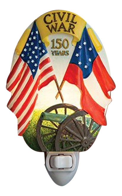 150th Anniversary Civil War North Versus South Night Light
