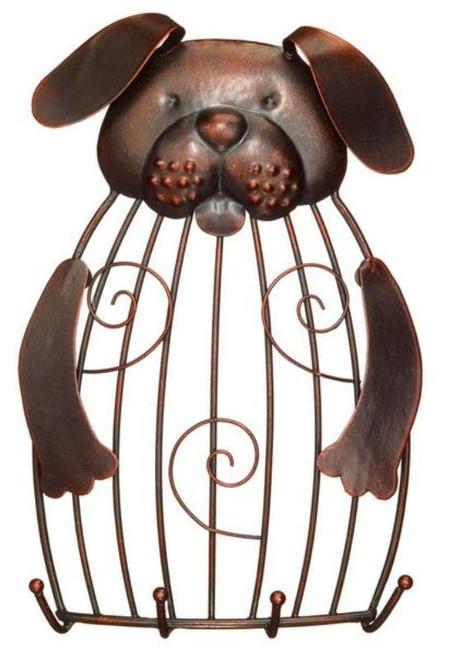 Puppy Dog Artistic Animal Bird Cage Design Photo Holder and Keyring Hooks