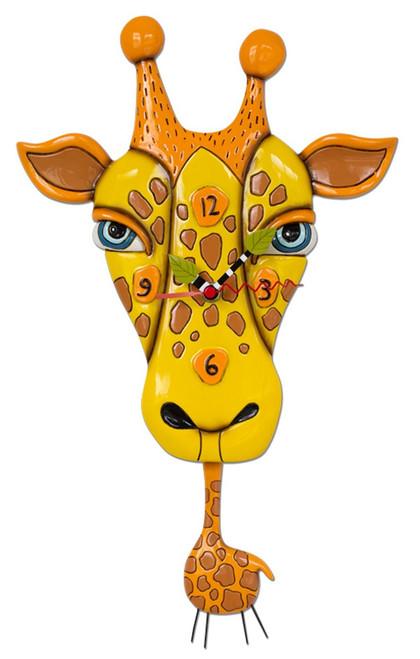 Jaffy the Giraffe Animal Battery Wall Clock with Pendulum