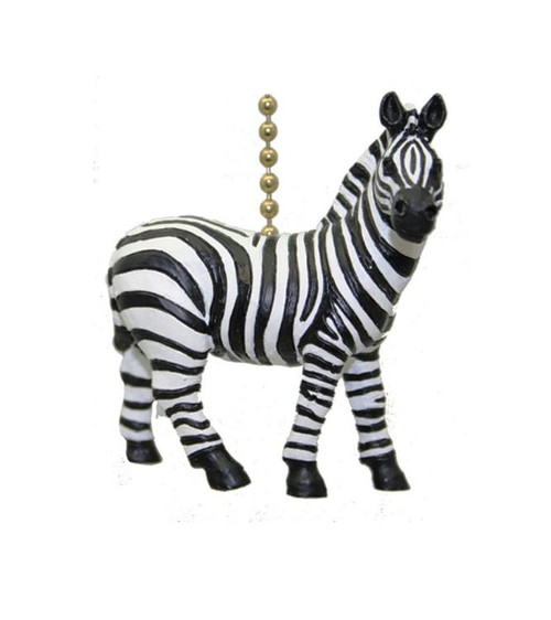 African Safari Plains Zebra Stripes Fan Light Pull
