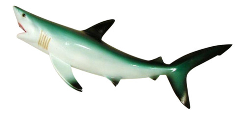 Blue Shark Plaque Bath Tiki Bar Kid Wall Decor Jaws Open