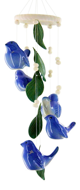 Bluebird of Happiness 14 Inch Wind Chimes Garden Decor