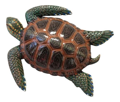 15 Inch Tropical Sea Turtle Plaque Nursery Bath Wall Decor 15STW07