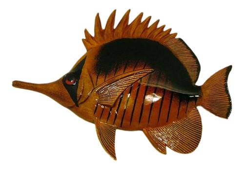 Classic Long Needle Nose Tropical Fish Tiki Sea Life Wall Decor 6 inch LNTFW26