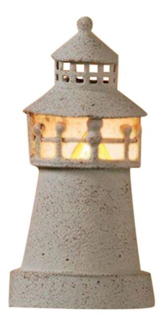 White Metal Lighthouse Shaped Night Light