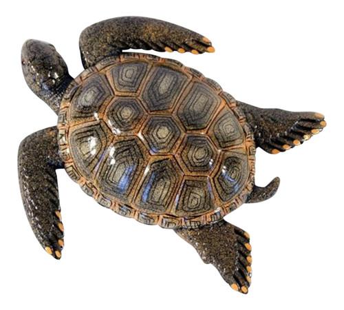 15 Inch Tropical Sea Turtle Beach Tiki Bar Kid Wall Decor Brown