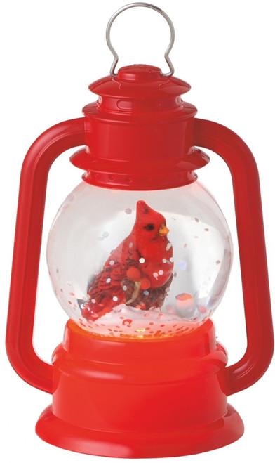 Lighted Bright Red Virginia Cardinal Bird Lantern Mini Shimmer Midwest CBK