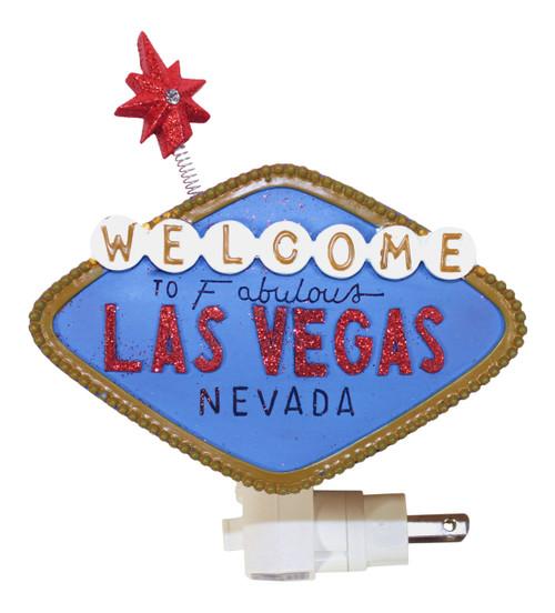 Welcome to Fabulous Las Vegas Nevada Sign Night Light Resin 7 Watt