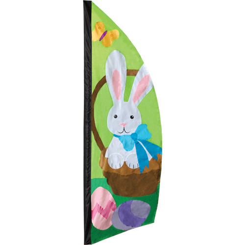 Easter Bunny Basket of Eggs 8.5 Feet Feather Banner Flag