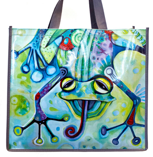 Smiling Frog 17 Inch Shopper Bag Beach Tote Allen Designs