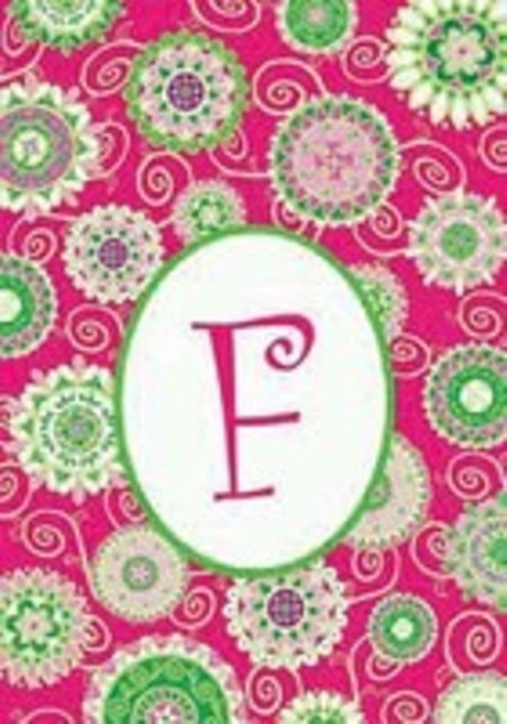 Beautiful Fashion Double Sided Monogrammed F Garden Flag