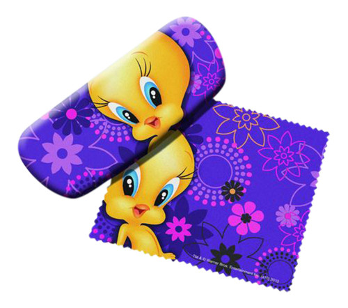 Tweety Bird Eye Reading Glasses Case and Lens Cloth