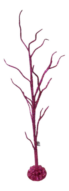 30 Inch Shimmering Fuchsia Glittered Twig Tabletop Christmas Holiday Tree