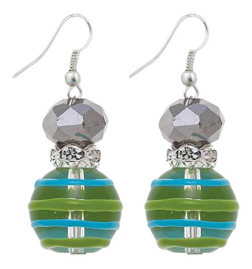 Cherish Mom Rhinestone Glass Beaded Kate and Macy Pierced Earrings Clementine