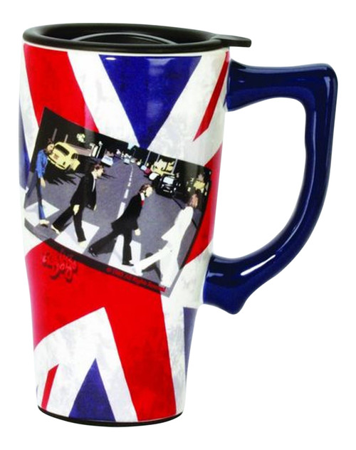 Beatles Fab 4 Crossing Abbey Road Travel Mug 16 Ounce Ceramic Coffee Latte Tea