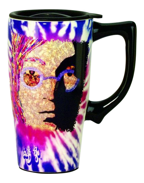 Beatles Musician Lennon Travel Mug Ceramic Coffee Latte Tea 16 Ounce