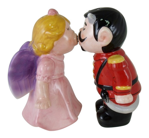Angel and Devil Magnetic Kissing Salt and Pepper Shakers Set 72334