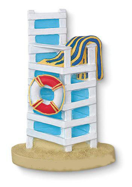 Beach Lifeguard on Duty Chair Resin Refrigerator Magnet