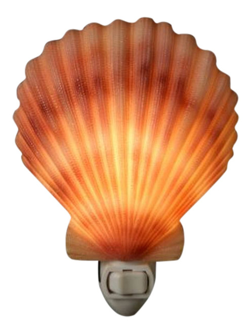 Tropical Scallop Seashell Shell Hand Painted Night Light