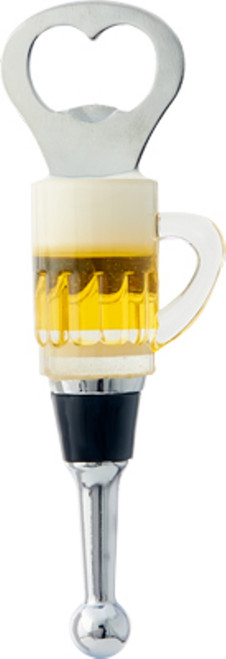 Beer Mug Bottle Opener Glass Art Wine Bottle Stopper Frosty Cold Brew Ale