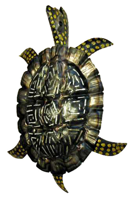 Rustic Tropical Sea Turtle Tiki Wall Sconce Light Decor