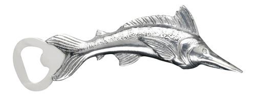 Coastal Marlin Bottle Opener Polished Aluminum Arthur Court Designs