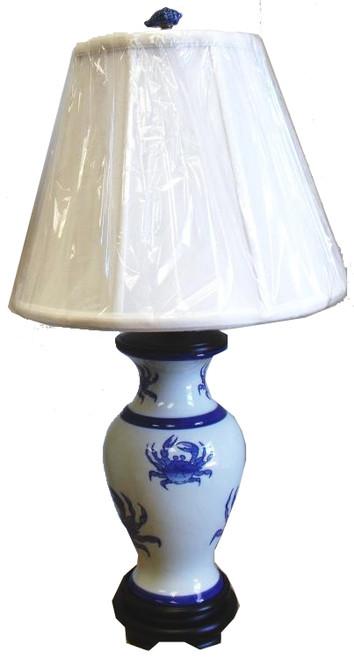 Nautical Beach Ocean Maryland Blue Crab Porcelain Table Lamp 250 Watt