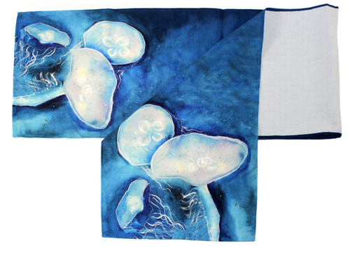 Blue Jellyfish Large 54 x 13 Inch Kitchen Dining Room Table Runner Betsy Drake