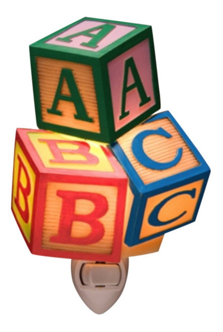 Childrens Toy Blocks ABC's Baby Nursery Night Light