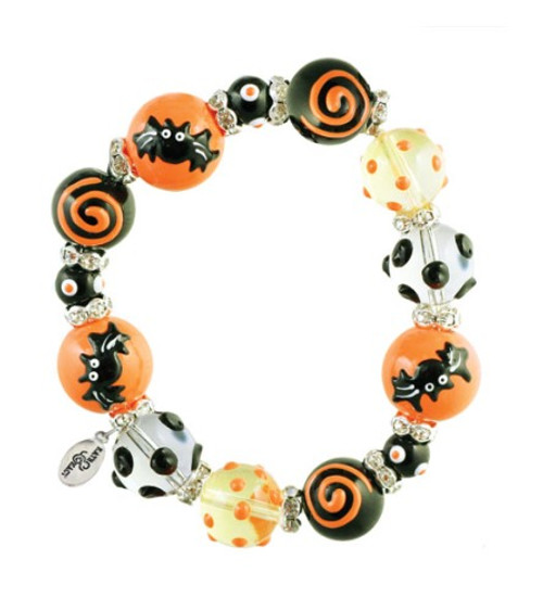 Gone Batty Happy Halloween Kate and Macy Stretch Bracelet