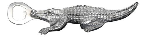 Everglades Alligator Bottle Opener Polished Aluminum