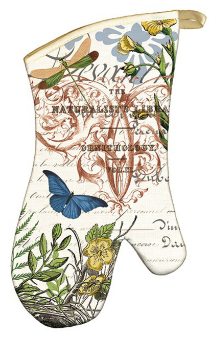 Blooms and Butterflies Into the Woods Kitchen Oven Mitt Cotton Print