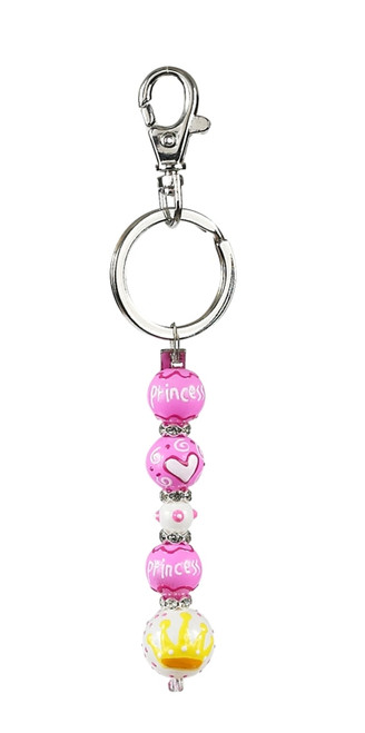 Princess Rhinestone Glass Beaded Kate and Macy Keychain Clementine