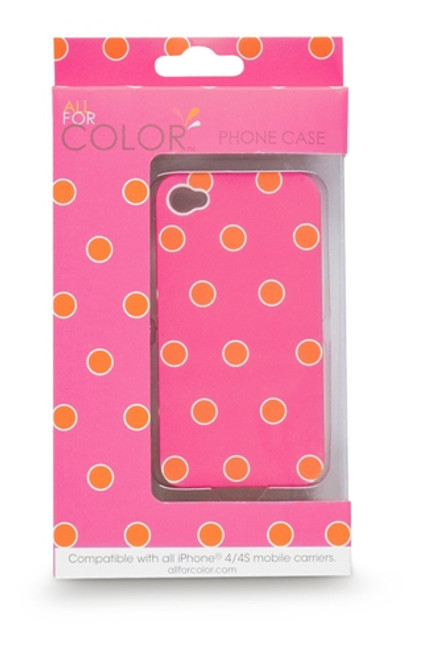 Orange Sorbet Spots iPhone 4 or 4s Smartphone Snap On Phone Case Cover