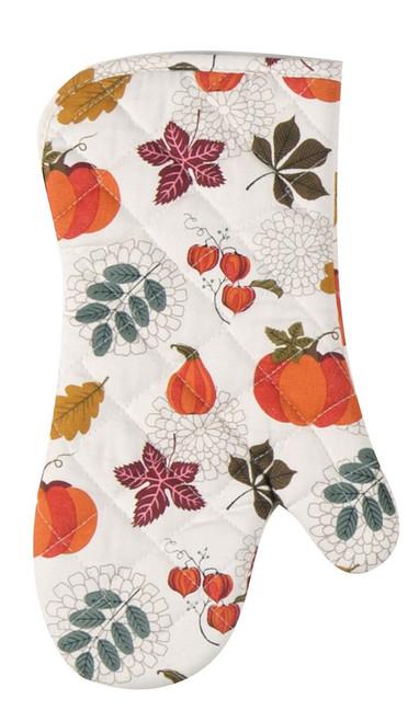 Autumn Leaves and Pumpkins Fall Harvest Kitchen Oven Mitt