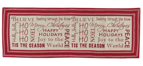 Believe Dashing Through Snow Tis The Season Holiday Table Runner 54 Inches