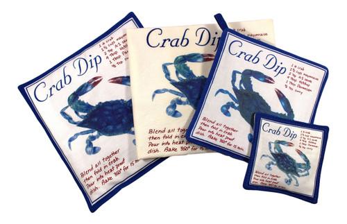 Blue Crab Towel Spiced Hot Pad Pot Holder Spice Mug Mat 4 Piece Kitchen Gift Set