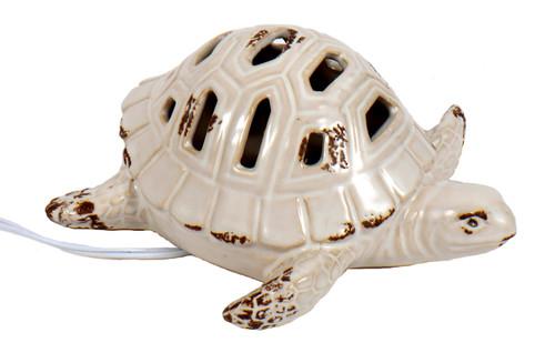 Lighted Sea Turtle Tabletop Electric Night Light Ceramic 7 Watt