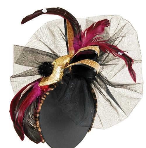 Wild Thing Feather Veil Halloween Headband Fashion Hair Accessory