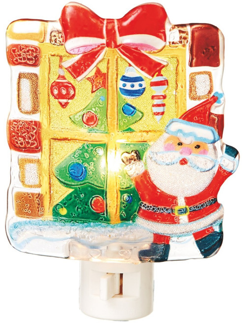Santa Peeking in Window Christmas Holiday Fun Night Light Midwest CBK