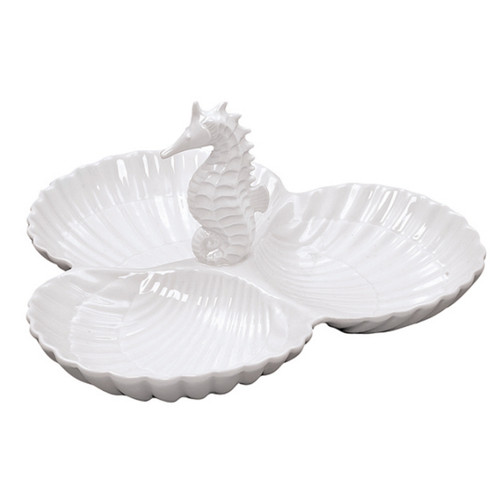 Andrea by Sadek Nautical Seahorse Server Dish Dip Bowl 20385