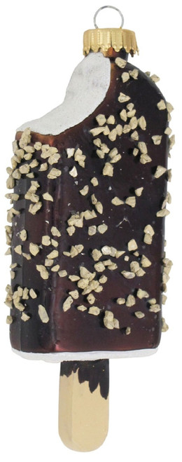 Chocolate Ice Cream Bar Christmas Holiday Glass 4.5 Inch Ornament